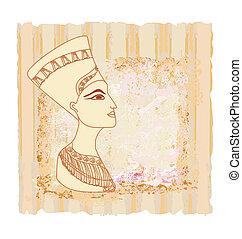 ペーパー, cleopatra, 女王, 古い, エジプト人