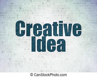 ペーパー, concept:, 考え, 背景, デジタル, 創造的, ビジネス, データ