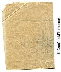 ペーパー, gunge, 年を取った, 上質の皮の紙