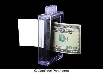 ペーパー, printing-press, end-view, お金, converts