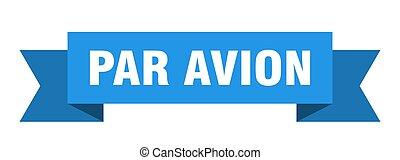 ペーパー, ribbon., 印, 対 avion, バンド, 旗