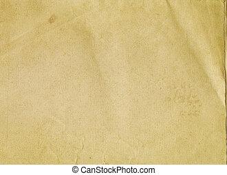 ペーパー, texture., 古い, 汚された
