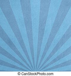 ペーパー, textured, sunburst, 見通し, パターン装飾された, 青