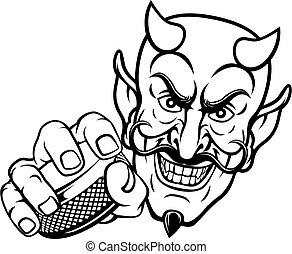 ホッケー, 漫画, マスコット, 氷, スポーツ, satan, 悪魔