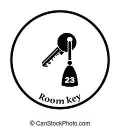 ホテルの部屋のキー, アイコン