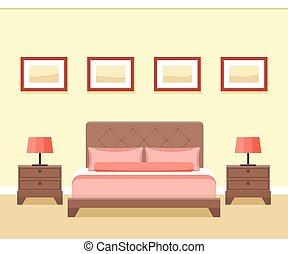 ホテルの部屋, interior.