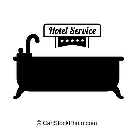 ホテル, サービス, アイコン