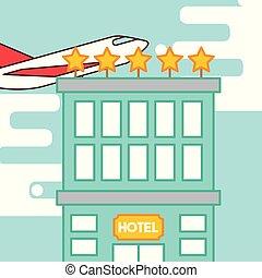 ホテル, サービス, 人々