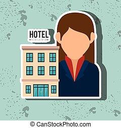 ホテル, デザイン, サービス