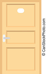 ホテル, ドア, 部屋