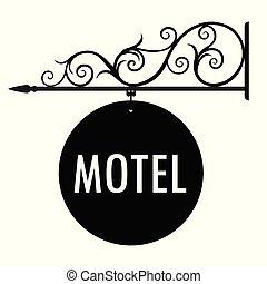 ホテル, ベクトル, 印