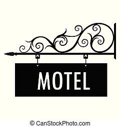 ホテル, 印, ベクトル