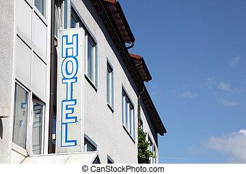 ホテル, 印, 建物