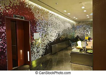 ホテル, 現代, 贅沢, エレベーター
