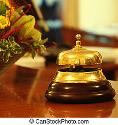 ホテル, 鐘, レセプション