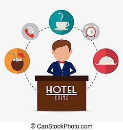 ホテル, design.