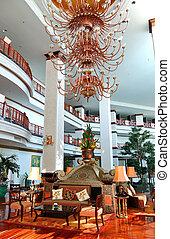 ホテル, pattaya, 贅沢, タイ, ロビー, 光沢