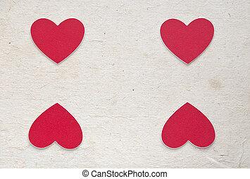 ホリデー, カード, ∥で∥, 心, ∥ように∥, a, シンボル, の, love/valentines, 日, カード