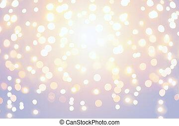 ホリデー, クリスマス, 背景, ライト