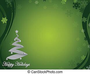 ホリデー, 緑, すてきである, 幸せ