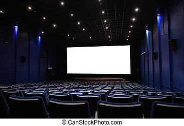 ホール, の, 映画館