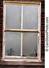 ホール, 古代, 窓, 捨てられた, 共同体, 反射
