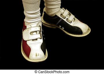 ボウリング, 隔離された, 靴