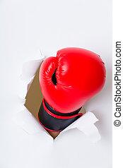 ボクサー, ペーパー, 壊れる, 手袋