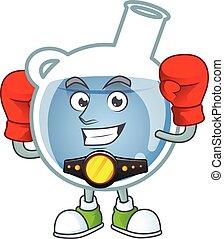 ボクシング, 青, デザイン, 一服, 特徴, 顔, 幸せ, 漫画
