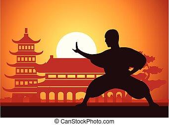 ボクシング, fu, 芸術, 戦争である, kung, 中国語