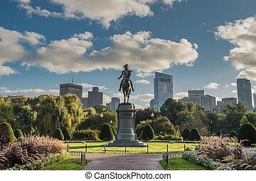 ボストン, スカイライン, ワシントン, 像