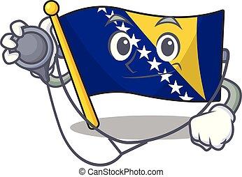 ボスニア, 旗, 医者, 道具, 服を着せられる