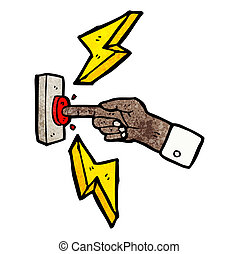 ボタンの押すこと, 漫画, 指