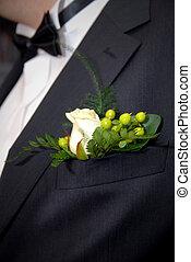ボタン穴, バラ, 人を配置する, スイート, 結婚式