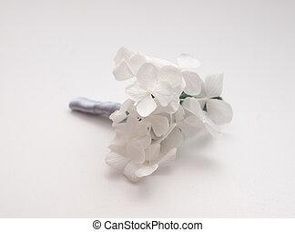 ボタン穴, 白, minimalistic, アジサイ, 結婚式