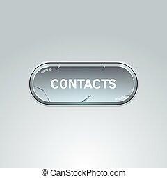 ボタン, ∥ために∥, 接触, 上に, 灰色, バックグラウンド。