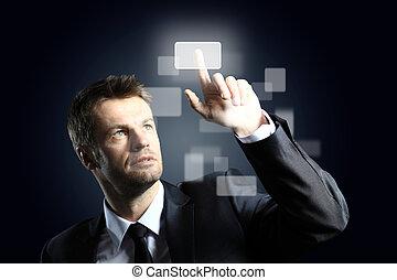 ボタン, アイロンかけ, 事実上, ビジネス男