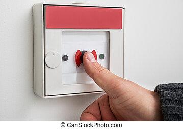 ボタン, アイロンかけ, 緊急事態, 人