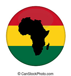 ボタン, アフリカ, 旗, 大陸