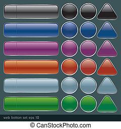 ボタン, ウェブサイト, app., ブランク