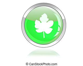 ボタン, エコロジー, グロッシー, アイコン