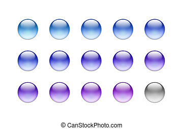 ボタン, ガラス, 03