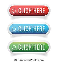 ボタン, セット, ここに かちりと鳴らしなさい
