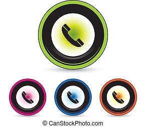 ボタン, セット, アイコン