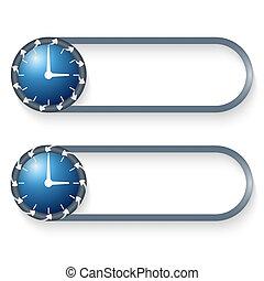 ボタン, セット, 矢, 2, 腕時計