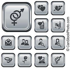 ボタン, デートする, 愛