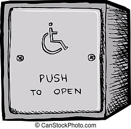 ボタン, ドア