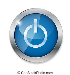ボタン, ベクトル, イラスト, 力