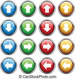 ボタン, ベクトル, 矢