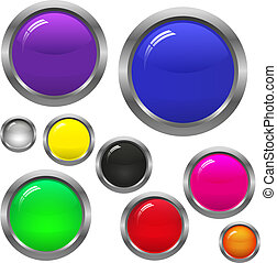 ボタン, ラウンド